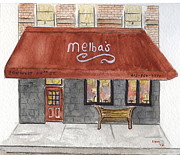 Soul Food Framed Prints - Melbas Restaurants Framed Print by Lynn Lieberman