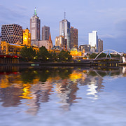Featured Art - Melbourne Skyline at Twilight by Colin and Linda McKie
