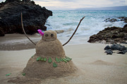 Sculpture Greeting Cards Posters - Mele Kalikimaka Merry Christmas from Paako Beach Maui Hawaii Poster by Sharon Mau