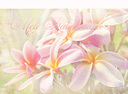 Beautiful Flowering Trees Posters - Mele Kalikimaka - Pink Plumeria - Hawaii Poster by Sharon Mau