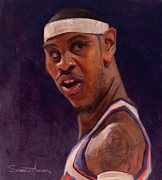 Knicks Metal Prints - Melo Metal Print by Jumaane Sorrells-Adewale