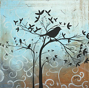 Whimsical Art Painting Prints - Melodic Dreams by MADART Print by Megan Duncanson