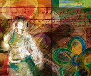 Play Mixed Media Prints - Melody Print by Bedros Awak