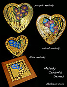 Hearts Ceramics - Melody Series by Dorinda K Skains