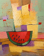Abstract Food Paintings - Melon by Lutz Baar