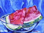 Jan Bennicoff - Melon on Blue Two
