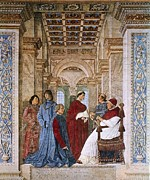 Interior Scene Photo Metal Prints - Melozzo Da Forli 1438-1494. Sixtus Iv Metal Print by Everett