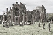 Juergen Klust Metal Prints - Melrose Abbey Metal Print by Juergen Klust