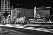 In Restaurant Prints - Mels Drive-In Black and White Print by Eddie Yerkish