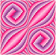 Op Art Digital Art Posters - Melted Nova Pink Poster by Chris Long