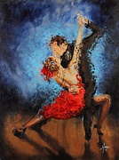Dance Painting Prints - Melting Print by Karina Llergo Salto