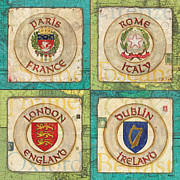 France Posters - Melting Pot Patch Poster by Debbie DeWitt