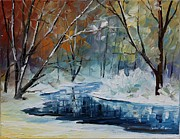Leonid Afremov - Melting Snow - Palette...