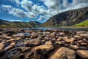Summer Digital Art Metal Prints - Melynllyn Reservoir Metal Print by Adrian Evans