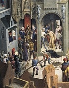 Pontius Pilate Framed Prints - Memling, Hans 1433-1494. Passion Framed Print by Everett