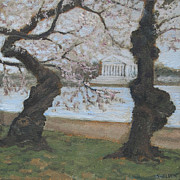 Tidal Basin Paintings - Memorial Grove by Suzanne Shelden