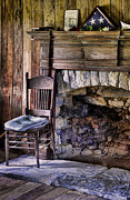 Vintage Log Houses Prints - Memories Print by Heather Applegate