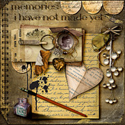 Digital Mixed Media - Memories I Have Not Made Yet by Karen  Burns