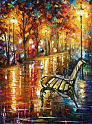 Surreal Landscape Painting Metal Prints - Memories Metal Print by Leonid Afremov