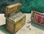 Spice Box Prints - Memories of Grandma Print by Sandi Howell