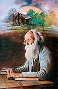 Writer Painting Originals - Memories of John Burroughs by John Lautermilch