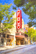 Artography Metal Prints - Memories of the Fox Theatre Metal Print by Mark E Tisdale