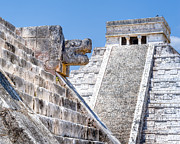 Wonder Of The World Prints - Memories of the Maya at Chichen Itza Print by Mark E Tisdale