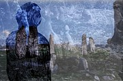 Stonehenge Digital Art Prints - Memories of Time Forgot Print by Mark Wickham