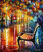 Rain Painting Framed Prints - Memories... small version Framed Print by Leonid Afremov