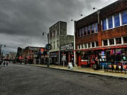 Downtown Cafe Prints - Memphis - Beale Street 003 Print by Lance Vaughn