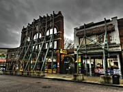Downtown Cafe Prints - Memphis - Beale Street 005 Print by Lance Vaughn
