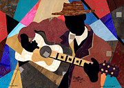 Lino Mixed Media Posters - Memphis Blues 2012 Poster by Everett Spruill