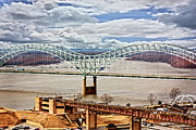 Hdr Photo Prints - Memphis Bridge HDR Print by Suzanne Barber