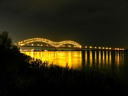 Tn Prints - Memphis - Hernando de Soto Bridge 001 Print by Lance Vaughn