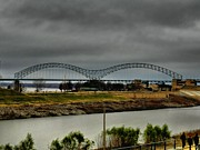 Arkansas Photos - Memphis - Hernando de Soto Bridge 004 by Lance Vaughn