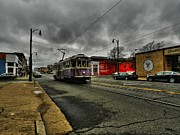 Main Street Prints - Memphis - Main Street Trolley 001 Print by Lance Vaughn