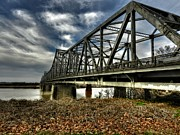 Arkansas Photos - Memphis - Memphis and Arkansas Bridge 001 by Lance Vaughn