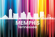 Tn Mixed Media Prints - Memphis TN 2 Print by Angelina Vick