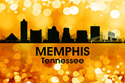 Tn Mixed Media Prints - Memphis TN 3 Print by Angelina Vick