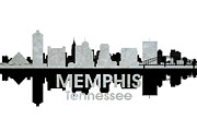 Tn Mixed Media Prints - Memphis TN 4 Print by Angelina Vick