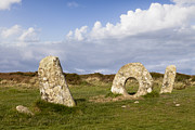 Moorland Framed Prints - Men-an-Tol Cornwall Framed Print by Colin and Linda McKie