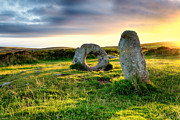 Kernow Photos - Men-An-Tol in Cornwall by Helen Hotson
