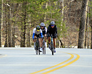 Susan Leggett Photo Prints - Men in a Bike Race Print by Susan Leggett