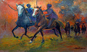 Jihad Paintings - Men In Defence by Prosper Akeni