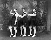 Tutus Metal Prints - Men In Tights And Tutus Metal Print by -