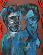 Stage Painting Originals - Men on Stage by Edgeworth Johnstone