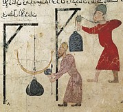 Miniatures Art - Men Weighing Goods. Fatimid Period by Everett