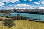 Town Digital Art Metal Prints - Menai Bridge 1819 Metal Print by Adrian Evans