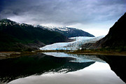 Alaskan Landscapes Posters - Mendenhall Glacier Poster by Heather Applegate
