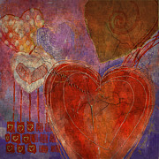 Heart Broken Prints - Mending A Broken Heart Print by Arline Wagner